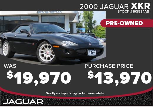 Click to View 2000 Jaguar XKR PORTFOLIO CPO Special