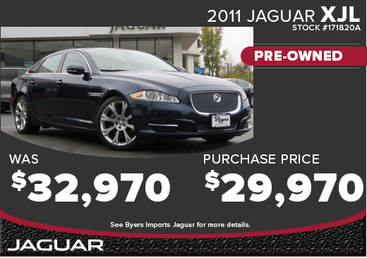 Click to View 2011 Jaguar XJL CPO Special