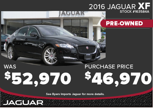 Click to View 2016 Jaguar XF CPO Special