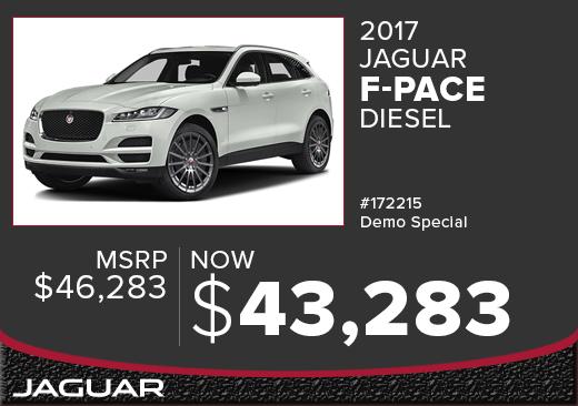2017 Jaguar F-PACE Diesel Demo Sales Special in Columbus, OH