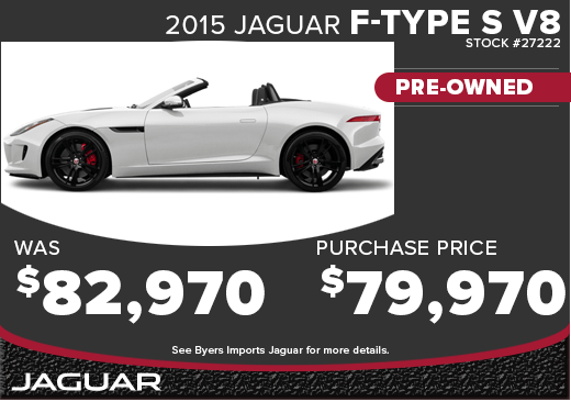 Save with this special offer on an exciting pre-owned 2015 Jaguar F-type V8 S in Columbus, OH