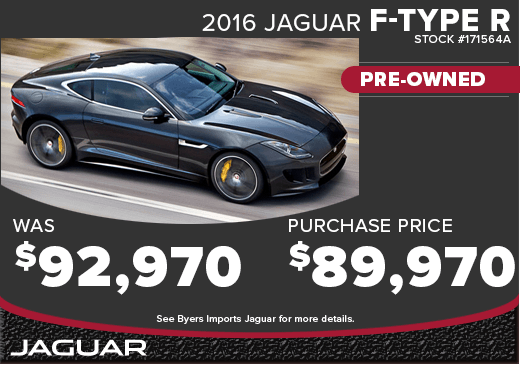 Save with this special offer on an exciting pre-owned 2016 Jaguar F-type R in Columbus, OH