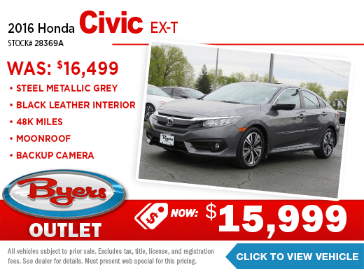 2016 Honda Civic EXT Pre-Owned Special at Byers Imports in Columbus, OH