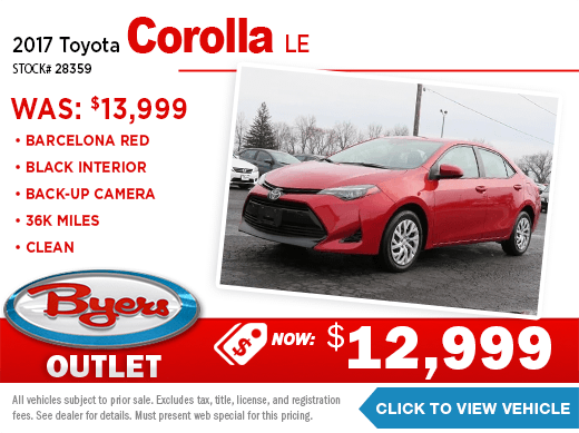 2017 Toyota Corolla LE Pre-Owned Special at Byers Imports in Columbus, OH