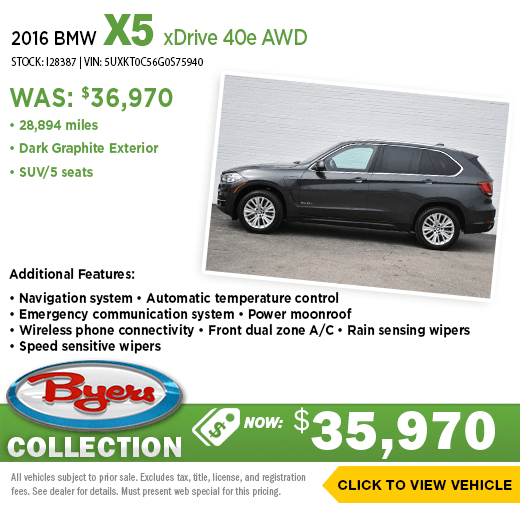 2016 BMW X5 xDrive 40e AWD Pre-Owned Special at Byers Collection in Columbus, OH