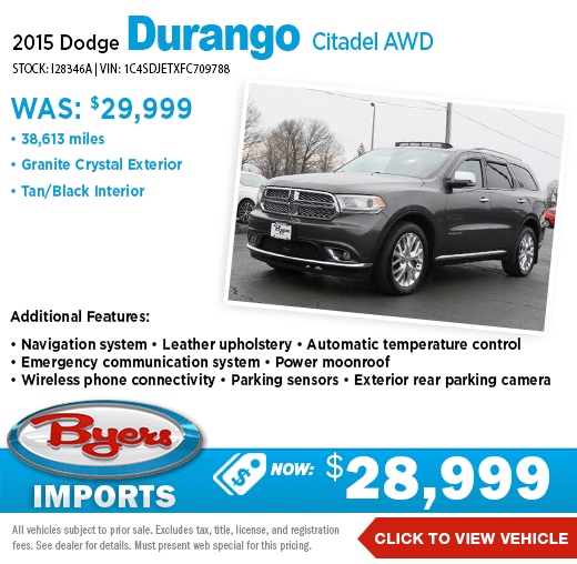 2015 Dodge Durango Citadel AWD Pre-Owned Special at Byers Imports in Columbus, OH
