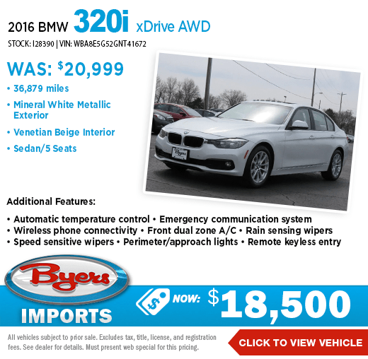 2016 BMW 320i xDrive AWD Pre-Owned Special at Byers Imports in Columbus, OH