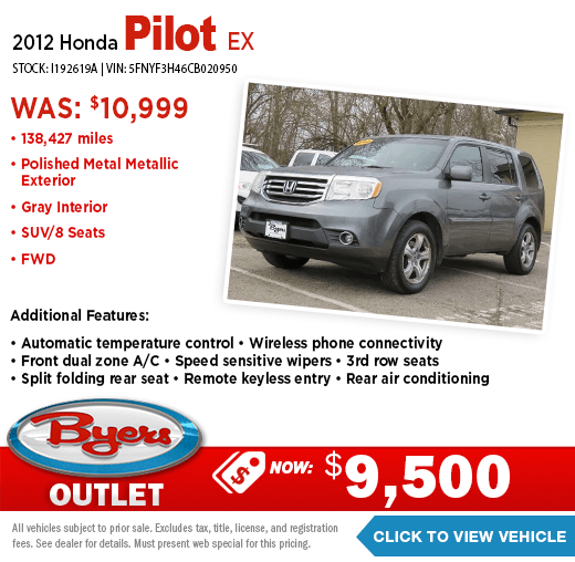 2012 Honda Pilot EX Pre-Owned Special at Byers Outlet in Columbus, OH
