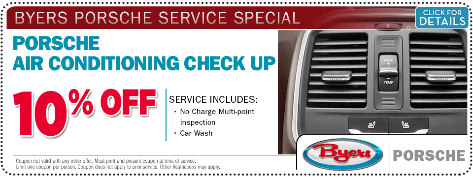 Click for more information about this Porsche A/C check-up service special offer from Byers Porsche