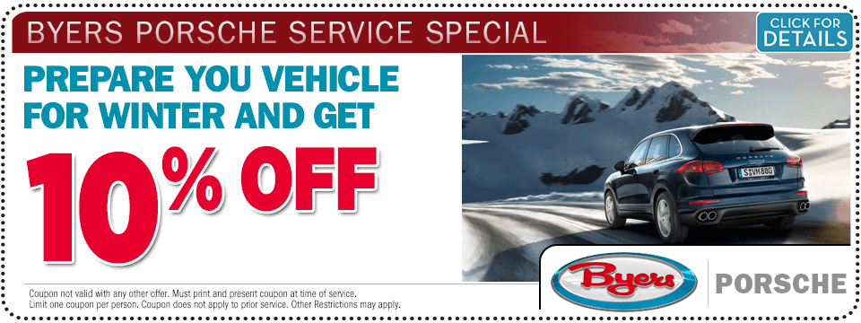 Click for more information about this Porsche winter maintenance service special offer  from Byers Porsche