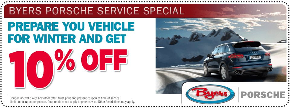 View this Porsche winter maintenance service special offer at Byers Porsche