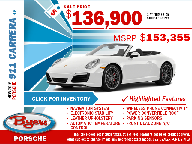 2016 Porsche 911 Carrera 4S Purchase Special in Columbus, OH