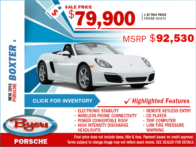 2016 Porsche Boxster S Purchase Special in Columbus, OH