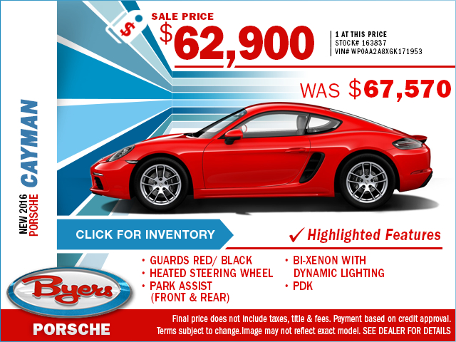 2016 Porsche Cayman Purchase Special in Columbus, OH