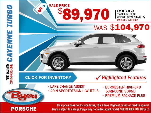 2015 Porsche Cayenne Turbo Pre-Owned Special in Columbus, OH