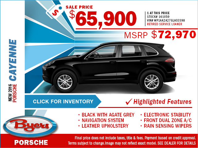 2016 Porsche Cayenne Purchase Special in Columbus, OH