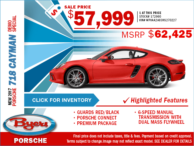 2017 718 Cayman Sales Special in Columbus, OH