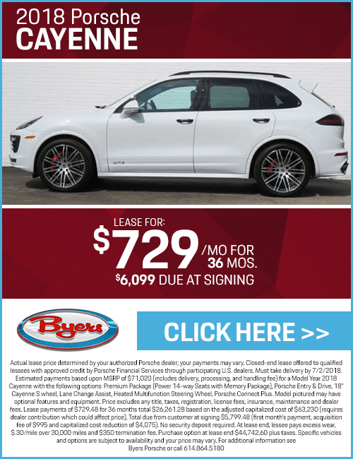 Lease a 2018 Porsche Cayenne for a Low Monthly Payment in Columbus, OH