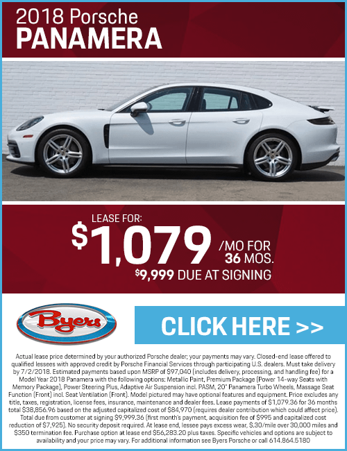 2018 Panamera Lease Special at Byers Porsche in Columbus, OH