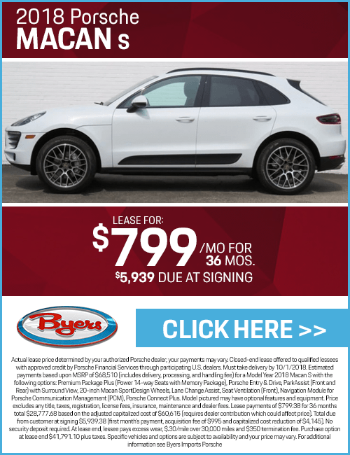 Lease a 2018 Porsche Macan S for a Low Monthly Payment in Columbus, OH