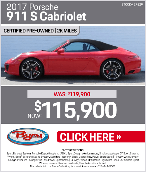 2017 911 S Cabriolet Sales Special at Byers Porsche in Columbus, OH