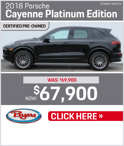 2018 Porsche Cayenne Platinum Edition Sales Special in Columbus, OH