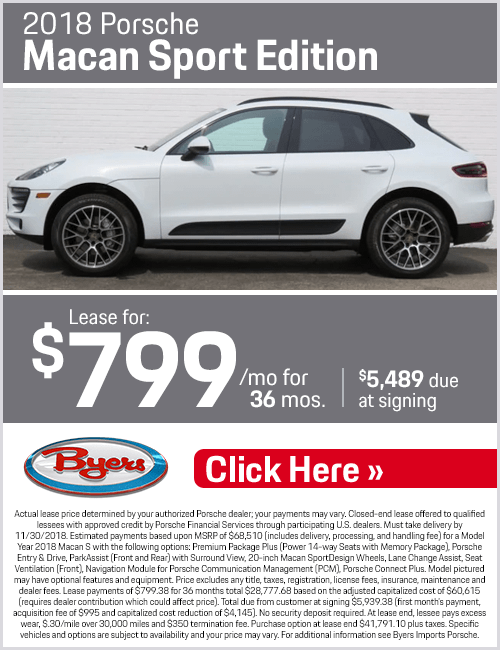2018 Porsche Macan Sport Edition Lease Special in Columbus, OH