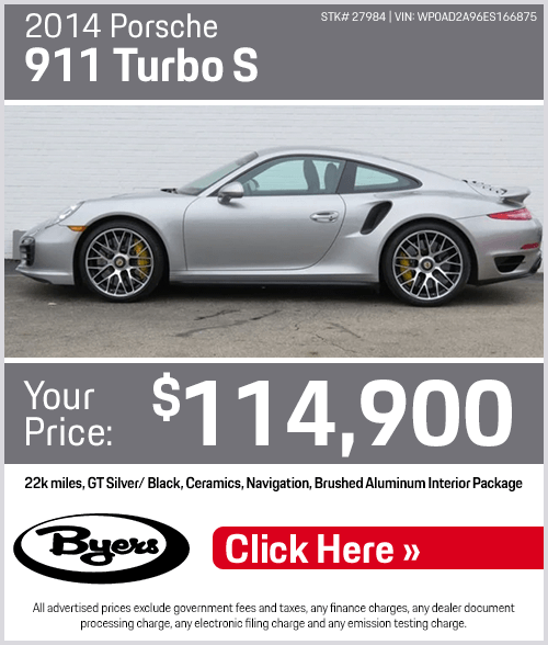 2014 Porsche 911 Turbo S Pre-Owned Special in Columbus, OH