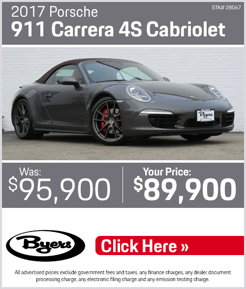 2017 Porsche 911 Carrera 4S Cabriolet Pre-Owned Special in Columbus, OH