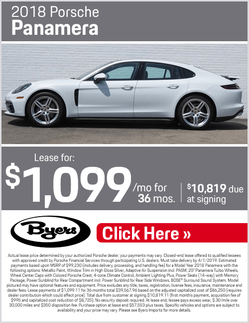 2018 Porsche Panamera lease special in Columbus, OH