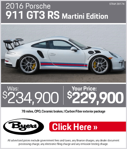 2016 Porsche 911 GT3 RS Martini Edition Pre-Owned Special in Columbus, OH