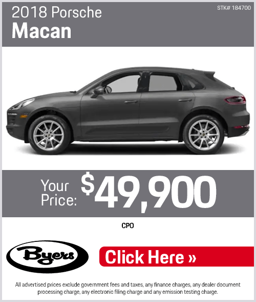 2018 Porsche Macan purchase special in Columbus, OH