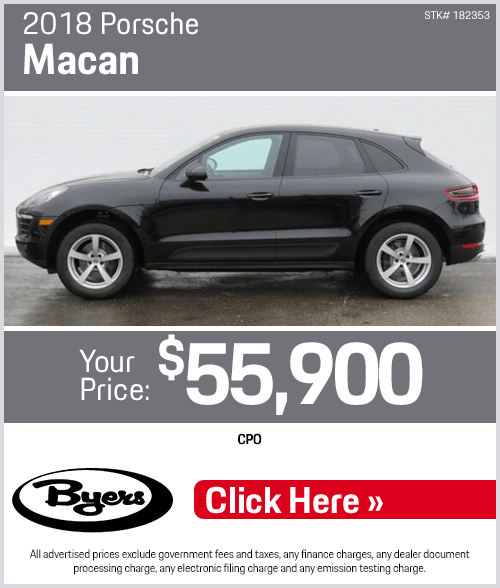 2018 CPO Porsche Macan purchase special in Columbus, OH