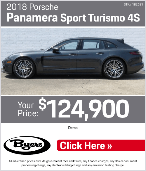 2018 Porsche Panamera Sport Turismo 4S purchase special in Columbus, OH