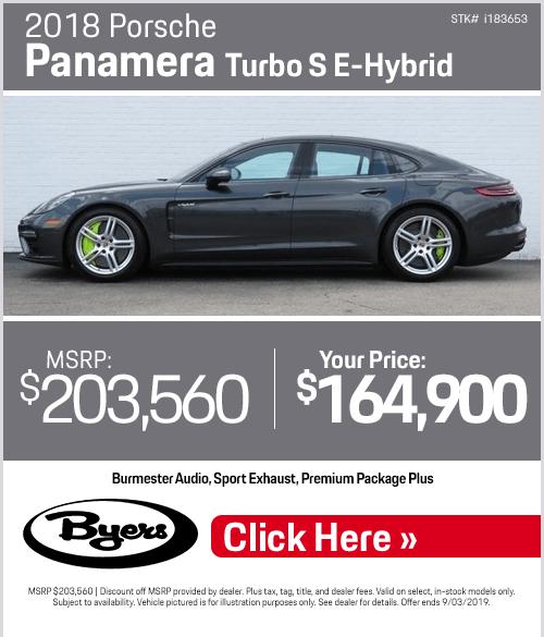 2018 Porsche Panamera Turbo S E-Hybrid Sales Special in Columbus, OH