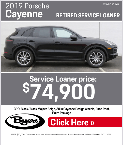 2019 Porsche Cayenne Service Loaner Special in Columbus, OH