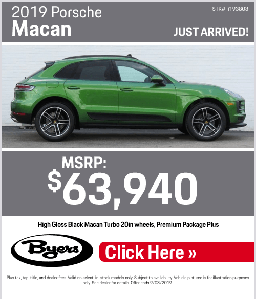 2019 Porsche Macan Purchase Special in Columbus, OH