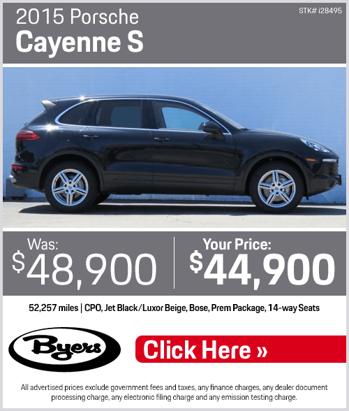2015 Porsche Cayenne S Pre-Owned Special in Columbus, OH