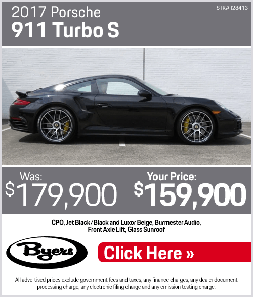 2017 Porsche 911 Turbo S Pre-Owned Special in Columbus, OH