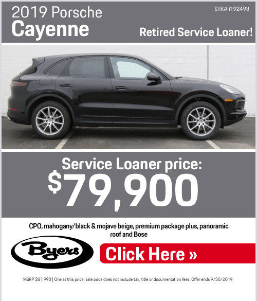 2019 Porsche Cayenne Retired Service Loaner Special in Columbus, OH
