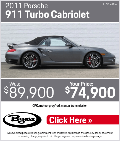 2011 Porsche 911 Turbo Cabriolet Used Special in Columbus, OH