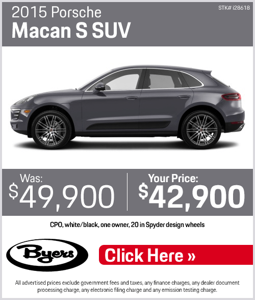 2015 Porsche Macan S SUV Pre-Owned Special in Columbus, OH