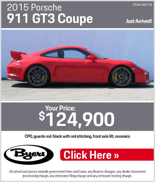 2015 Porsche 911 GT3 Coupe Pre-Owned Special in Columbus, OH