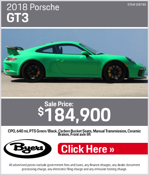 2018 Porsche GT3 Certified Pre-Owned Special in Columbus, OH