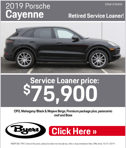 2019 Porsche Cayenne Purchase Special at Byers Porsche in Columbus, OH