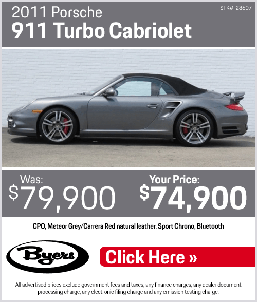 2011 Porsche 911 Turbo Cabriolet Pre-Owned Special in Columbus, OH