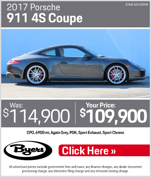 2017 Porsche 911 4S Coupe Pre-Owned Special in Columbus, OH