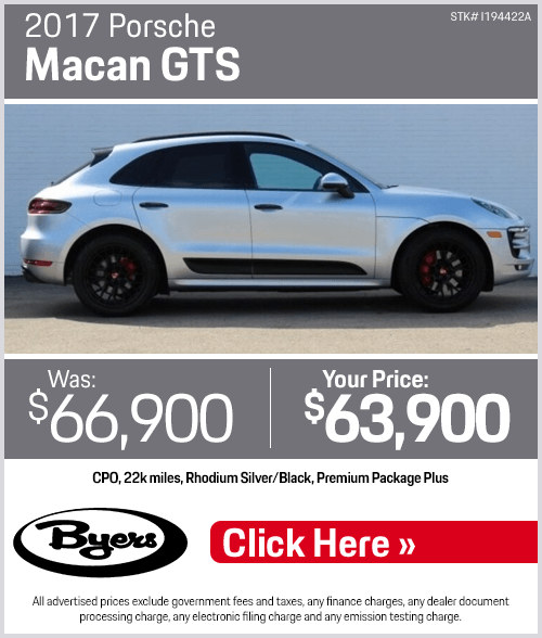 2017 Porsche Macan GTS Pre-Owned Special in Columbus, OH