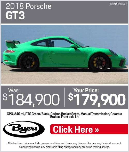 2018 Porsche GT3 Pre-Owned Special in Columbus, OH