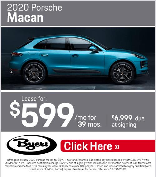 2020 Porsche Macan Lease Special at Byers Porsche in Columbus, OH